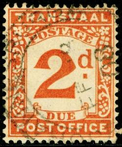 SOUTH AFRICA - Transvaal SGD3, 2d Brown-Orange, USED. CDS.