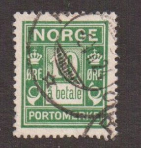 Norway   #J8    used  1922  postage due  a betale  10o