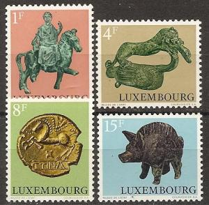 LUXEMBOURG  519-22 MNH 1973 ARCHAEOLOGICAL OBJECTS