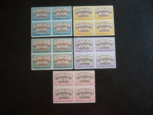 Stamps - Cuba - Scott#577-581 - Mint Hinged Set of 5 Stamps in Blocks of 4