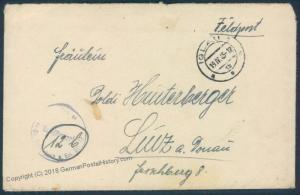3rd Reich Germany April 19 1945 Feldpost Cover Waffen SS Panzer Grenadier  55646
