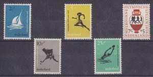 Netherlands Sc B296-B300 MNH. 1956 Olympics VF