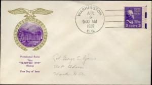 #807EE-57 FIRST DAY COVER BY RICE CACHET BN3001