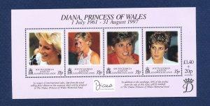 SOUTH GEORGIA - # 220 - MNH S/S  - Princess Diana - 1997
