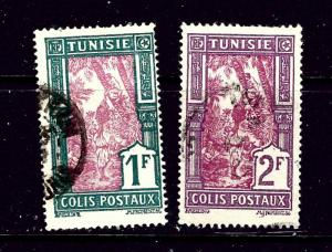 Tunisia Q20-21 Used 1926 issues