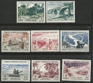 French West Africa # 65-72  FIDES Issue    (8)  Unused VLH