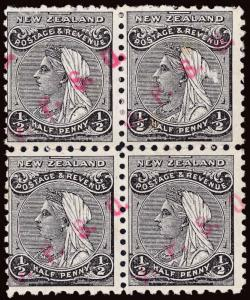 New Zealand Scott O9 Gibbons O4 Block of Stamps