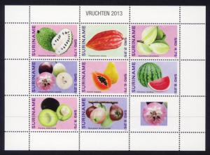Suriname Sc# 1454 MNH Fruits 2013 (M/S of 8)