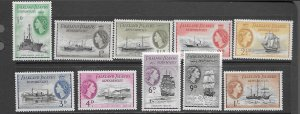 Falkland Islands 1L19-28 MLH short set, f-vf. see desc. 2020 CV $21.25