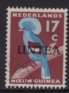 Netherlands West New Guinea UNTEA  #8 UN temporary authority 1962  used 17c