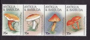 Antigua-Sc#1967-unused NH strip-Mushrooms,Fungi-1998-
