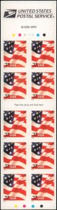 United States #3634a, Complete Set, Unexploded Booklet, 2002, Flags, Never Hi...
