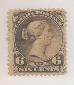 Canada Stamp Scott #27, Used - Free U.S. Shipping, Free Worldwide Shipping Ov...
