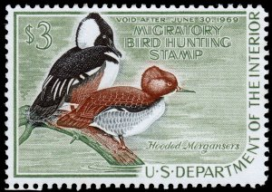 United States Duck Hunting Scott RW35 (1968) Mint LH VF W