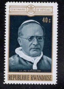 RWANDA Scott 393 Unused Pope stamp