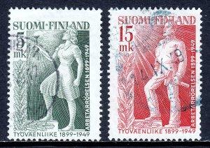 Finland - Scott #283-284 - Used - SCV $24