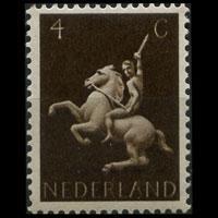 NETHERLANDS 1943 - Scott# 250 Rider 4c LH