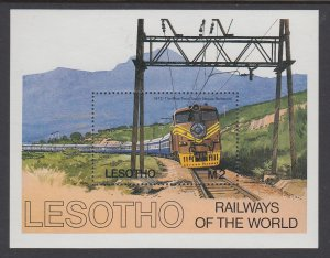 Lesotho 458 Trains Souvenir Sheet MNH VF