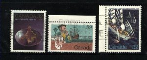 Can #1009,1011-12   -3  used VF 1984 PD