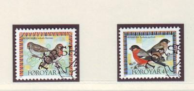 Faroe Islands Sc313-4 1997 bird stamps used