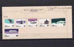 ROSS DEPENDENCY STAMPS ON STOCK CARD  REF R 1360