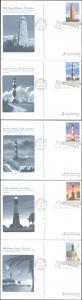 #UX395-99 Southeastern Lighthouses Fleetwood FDC Set
