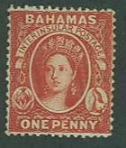 Bahamas SC# 16 Queen Victoria, 1d, Mint hinged