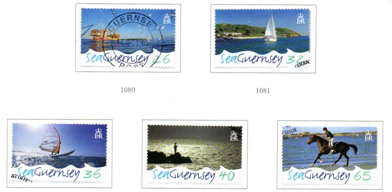 Guernsey Sc 875-9 2005 Sea Guernsey stamp set used