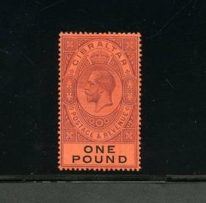 GIBRALTAR GEO V  SCOTT#75   SG#85  MINT  HINGED