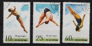 North Korea 1975 Diving (3/3) UNUSED