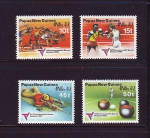 Papua New Guinea Sc571-4 Commonwealth Games stamps mint NH