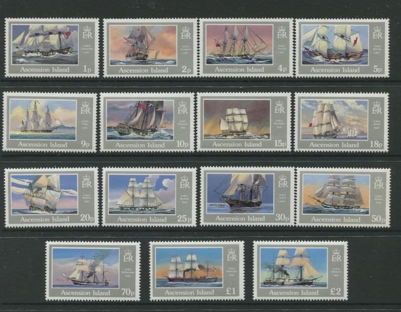 ASCENSION- Scott 401-415 - Definitive Issue -1986 - MNH - Set of 15 Stamp