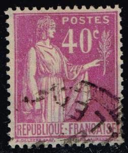 France #265 Peace with Olive Branch; Used (0.30)