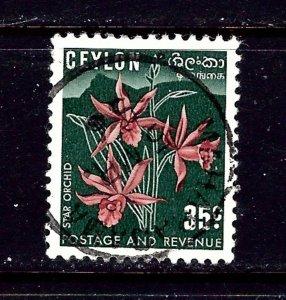 Ceylon 314 Used 1951 Orchid