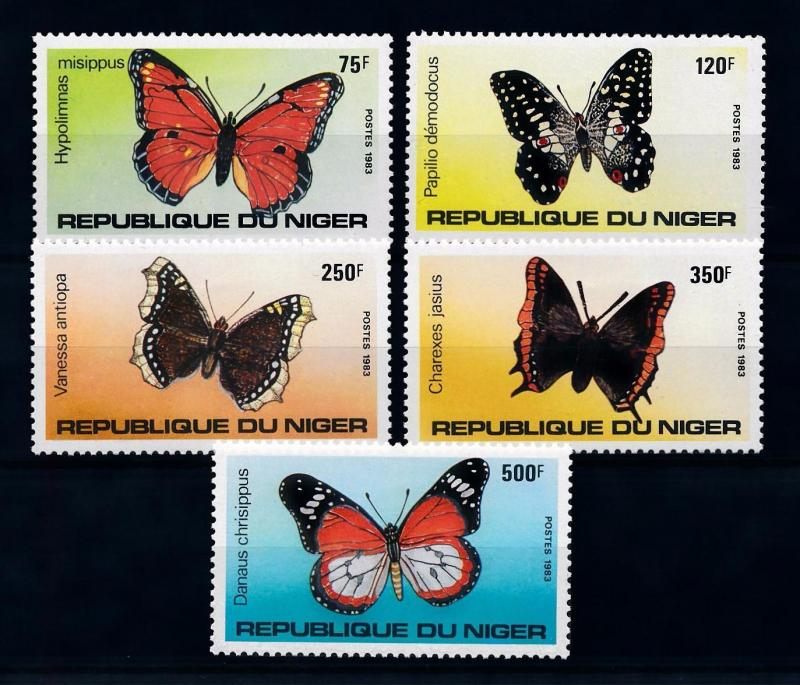 [70579] Niger 1983 Insects Butterflies  MNH