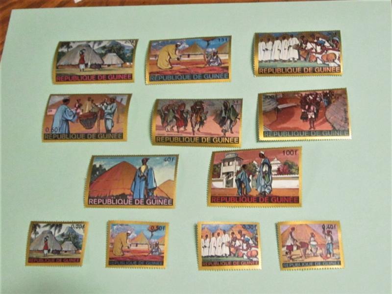 Guinea - 504-11, C101-04, MNH Set. The Story Teller. SCV - $12.85