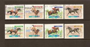 CANADIAN SETS ON THE CANADIAN HORSES (8) USED STAMPS  LOT#125