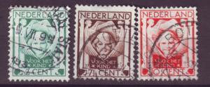 J15695 JLstamps 1924 netherlands set used #b6-8 child