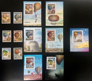 Thematic Stamps Balloons / airships