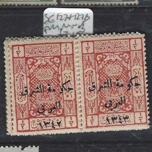 JORDAN  (PP1806BB) ON SAUDI ARABIA STAMPS SG 127+127B  MNH