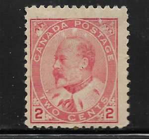 CANADA, 90, MINT HINGED, KING EDWARD VII