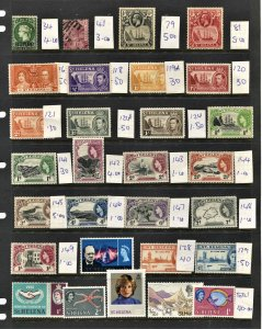 STAMP STATION PERTH  St Helena #29 Early Stamps Mostly Mint - Unchecked