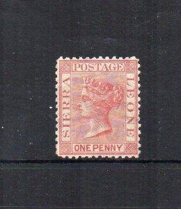 Sierra Leone 1872 1d sideways wmk MLH
