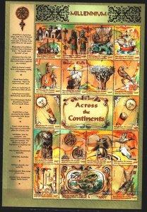 Guinea. 2000. Small sheet 2764-80. Millennium, art of the continents, sailboa...