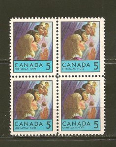 Canada 502 Christmas Block of 4 MNH