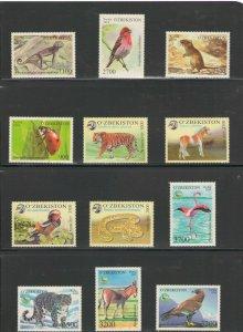 UZBEKISTAN: **Beautiful WILDLIFE**/ 12 Stamps & 2 SS / MNH-Check 2 Images.