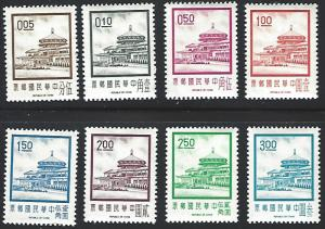 Republic of China (ROC) #1702-1709 Mint Lightly Hinged Full Set of 8