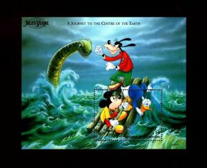 ANTIGUA - 1996 - DISNEY - MICKEY - JULES VERNE - CENTER OF EARTH - MINT S/SHEET!
