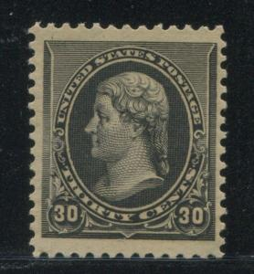 1890 US Stamp #228 30c Mint Never Hinged Very Fine Catalogue Value $1475