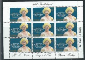 Pitcairn Islands #193 Sheet of 9 Queen Mother  (MNH) CV$6.30